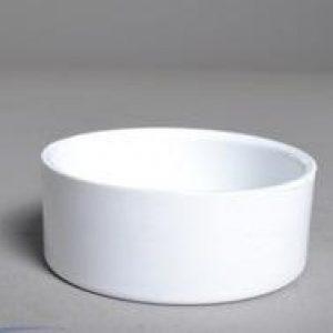 Plastic pipe cap for 2' central vacuum pipe